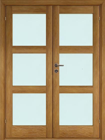 Original 3 Pardörr – EK glas